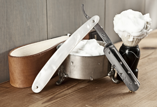 Rasieren mit Messer