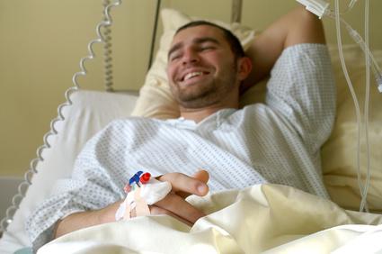 Patient, der unter dem Münchhausen-Syndrom leidet.