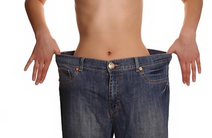untergewichtige Frau