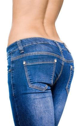 Frau in einer Jeans