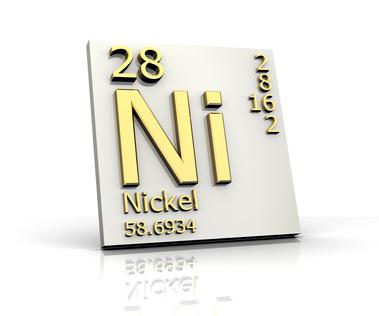 Symbom für Nickel aus dem Periodensystem der Elemente