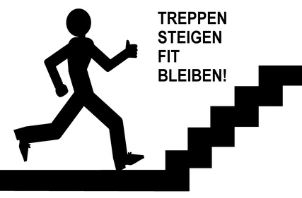 Mensch steigt Treppen