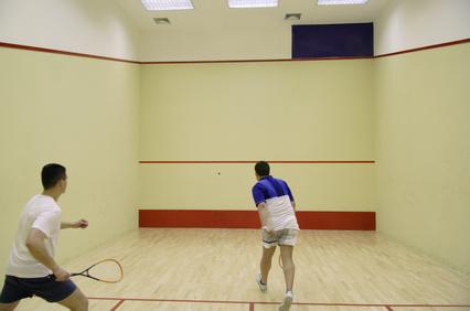 zwei Squashspieler
