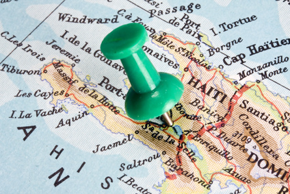 Haiti auf einer Landkarte
