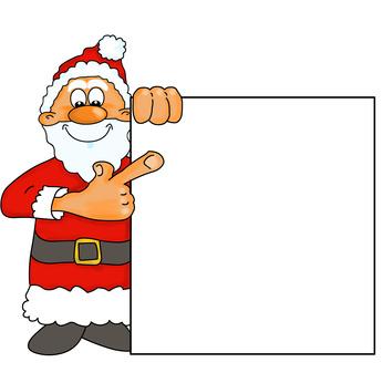 Weihnachtsmann mit Wunschzettel