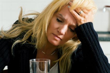 depressive erkältete Frau