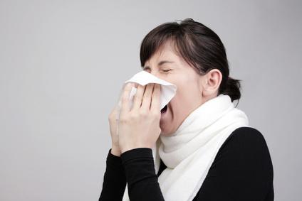 Mädchen ist krank