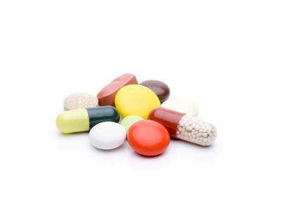 verschiedene bunte Pillen