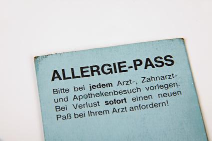 Allergie-Pass