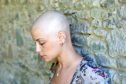 Frau nach einer Chemotherapie