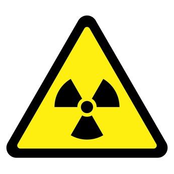 Schild mit Radioaktivität