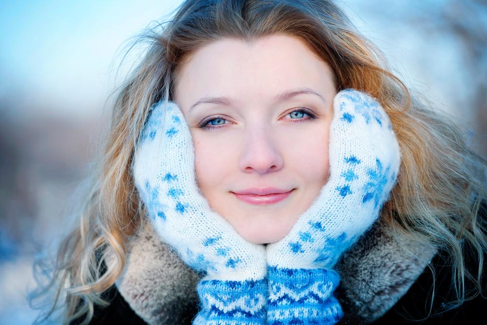 Haut im Winter