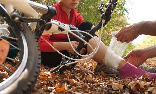 Sportverletzung beim Fahrradfahren