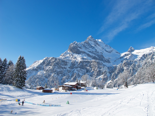 Ski fahren lernen Erwachsener