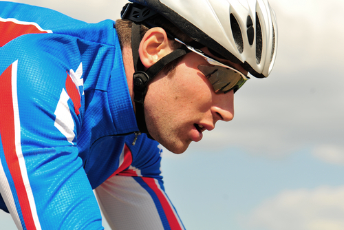 Radsport mit Sonnenbrille